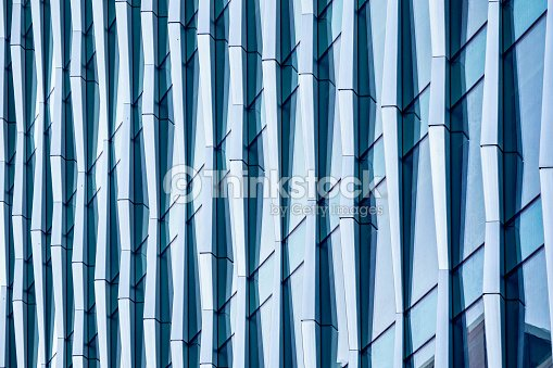 Architectural abstract, a modern office building : Stock Photo