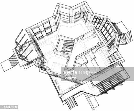 Plan Architectural De La Maison Serrage Technique 3D Photo | Thinkstock