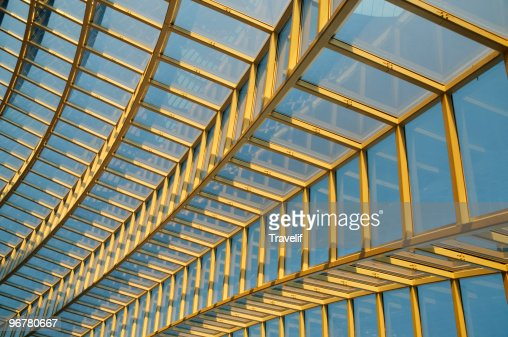Architectural background-modern glass roof : Stock Photo