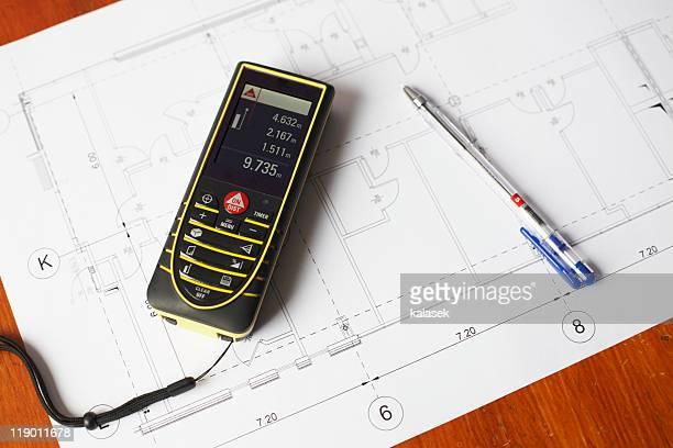 Laser Measurement Device Fotograf As E Im Genes De Stock Getty Images