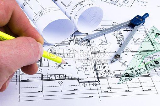 Planos arquitect nicos y planos rollos y un instrumentos for Planos ingenieria civil