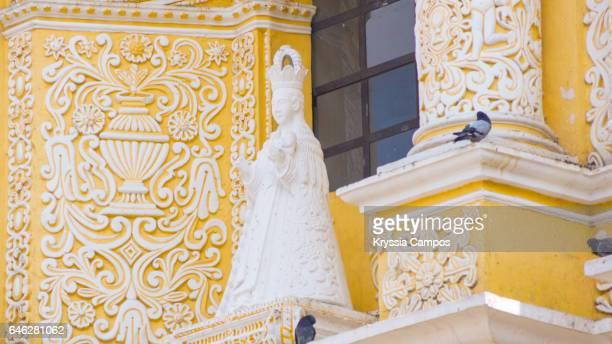 Architectural close up of Colonial church of Nuestra Señora de la Merced, Antigua, Guatemala