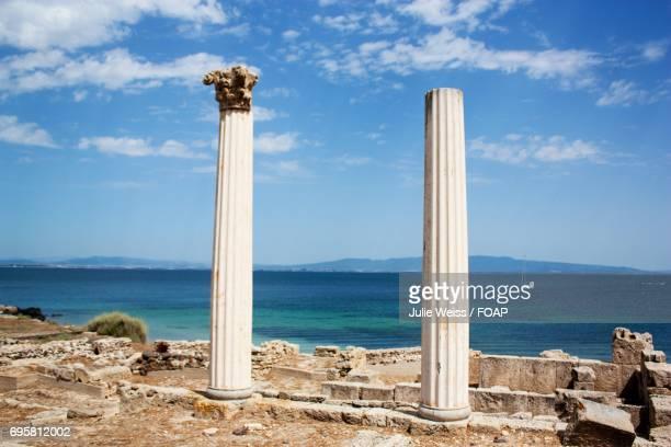 Architectural column at beach