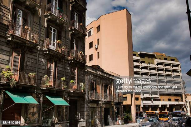 PALERMO, ITALY - October 14, 2009: Architectural contrasts