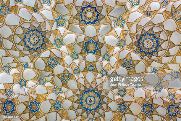 Architectural design of the vault of the entrance gate of Mir Emad Mosque in Kashan, Iran