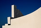 Architectural detail and blue sky