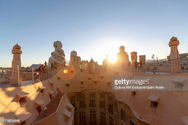 Architectural detail, Casa Mila, Barcelona, Spain