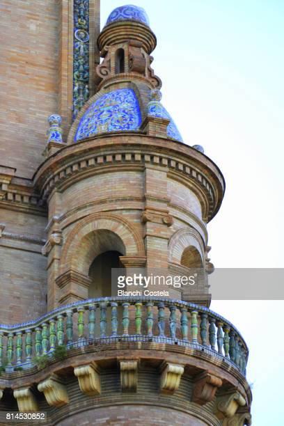 Architectural detail in the Plaza de Espana