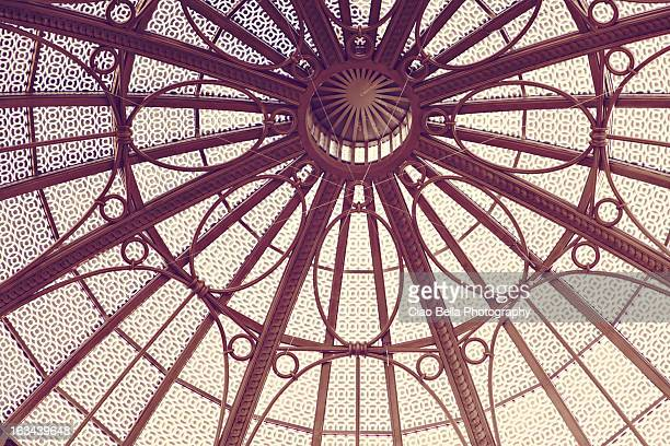 Architectural detail of circular glass roof