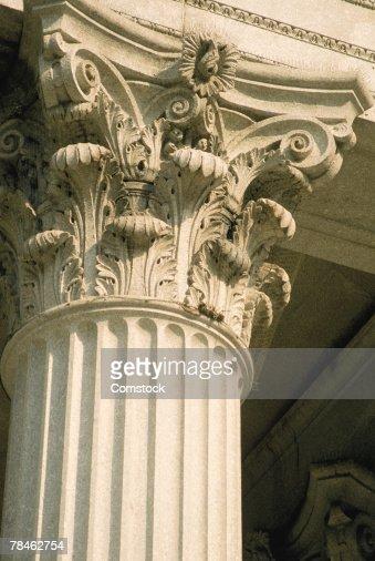Architectural detail of corinthian column