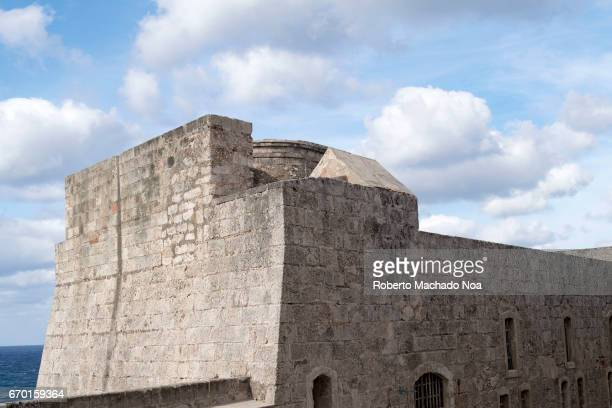 Architectural detail of 'El Morro' walls The tourist landmark was a Spanish colonial fortress Morro Castle named after the three biblical Magi is a...