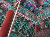 Architectural detail of Jogyesa temple, Seoul