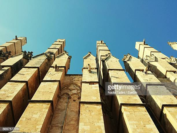 Architectural Detail Of Palma Cathedral Against Clear Sky