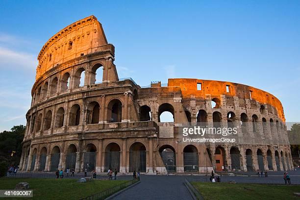 Architectural detail of the Colosseum Rome Lazio Italy