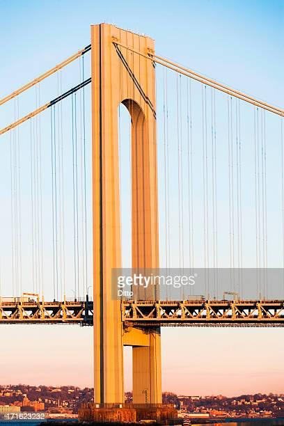 Architectural detail of Verrazano-narrows bridge, New York City, USA