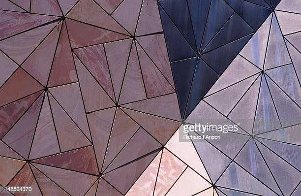 Architectural details of buildings at Federation Square.