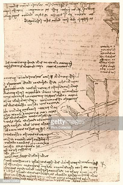 Architectural drawing c1472c1519 From The Literary Works of Leonardo Da Vinci Vol II by Jean Paul Richter PH DR [Sampson Low Marston Searle Rivington...