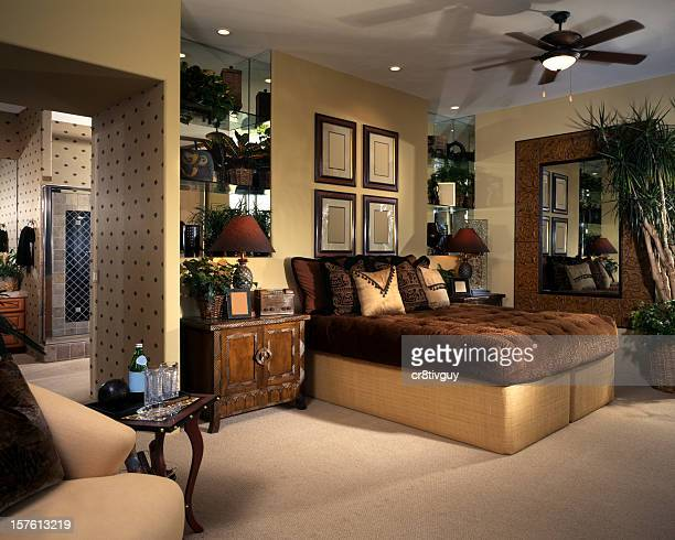 Architectural image of well-furnished bedroom