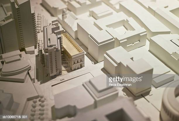 Architectural model, close-up
