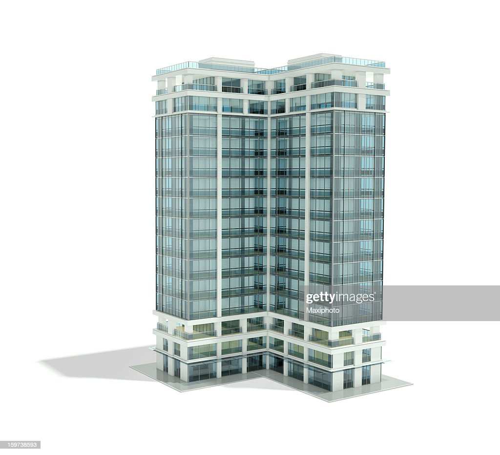 Il rendering architettonico di office building : Foto stock
