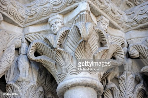 Architectural sculptures on the facade of