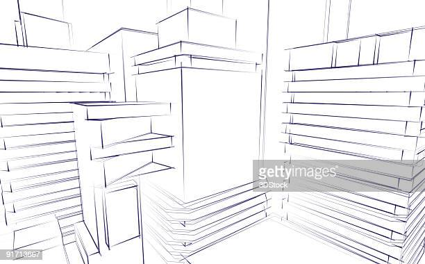 Architectural Sketch Background