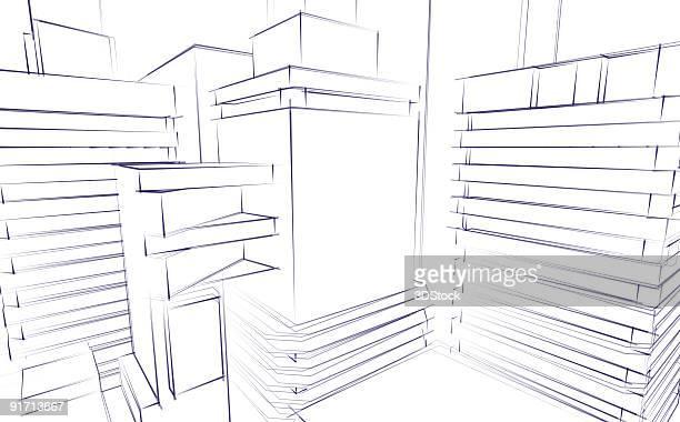 Schizzo architettonico sfondo