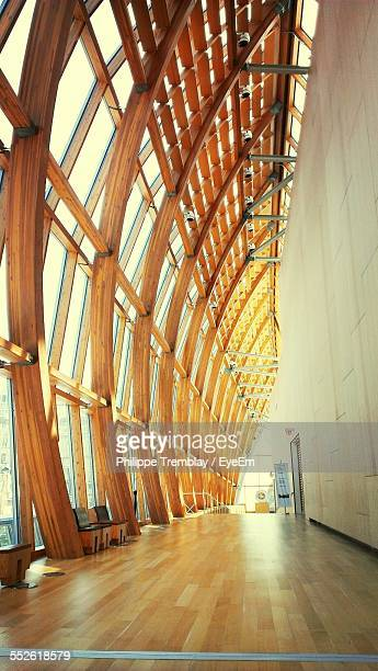 Architectural Wooden Structure, Empty Corridor