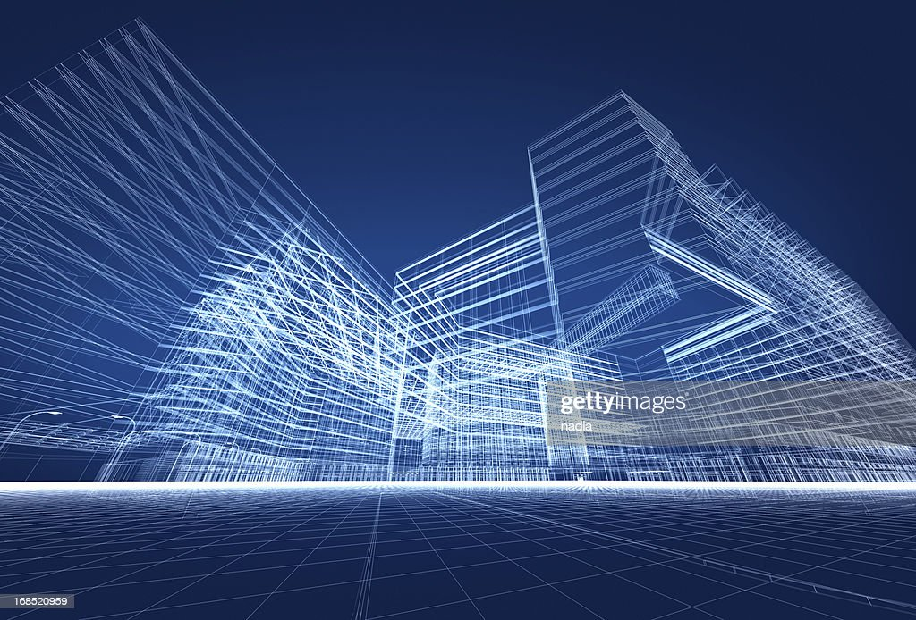 3D architecture abstract : Stockfoto