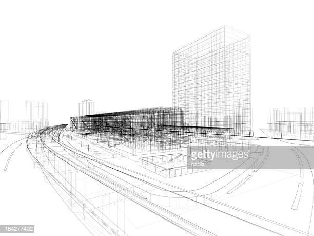 architecture 3D abstrait