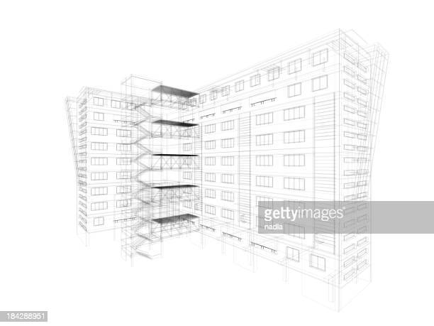 architecture 3D abstrait