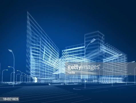 3 D abstrato arquitectura