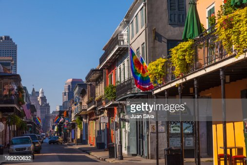 Architecture and buildings in old French Quarter