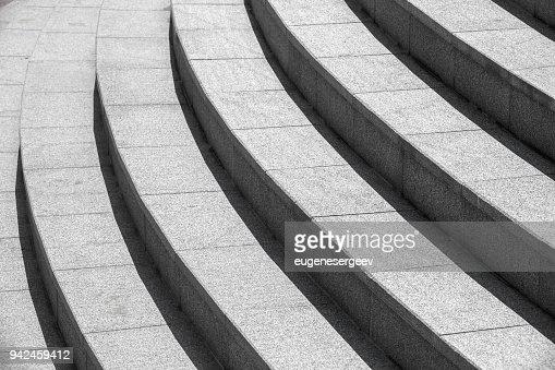 Fond d'architecture, escalier rond noir : Photo