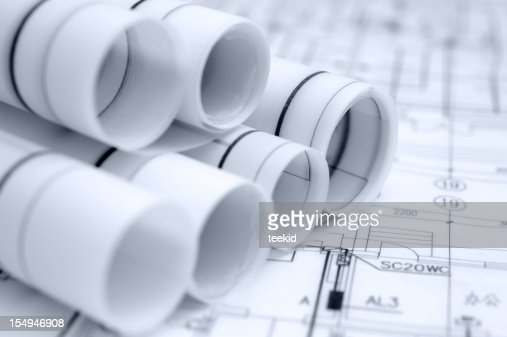 Architecture Blueprint Detail,Construction Engineering Industry Design Document : Stock Photo