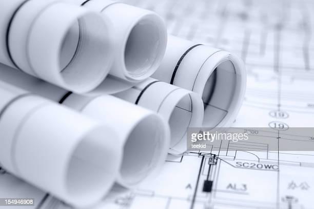 Architektur Blueprint Bau-Industrie und Engineering Design-Dokument