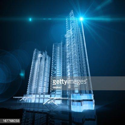 Architecture Blueprints Skyscraper futuristic globe architecture skyscrapers city cube 3d abstract