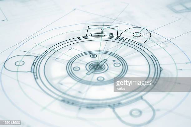 Architecture Blueprint-Mechanical Engineering Blueprint