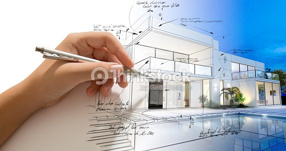 Architecture creative process : Stock Photo