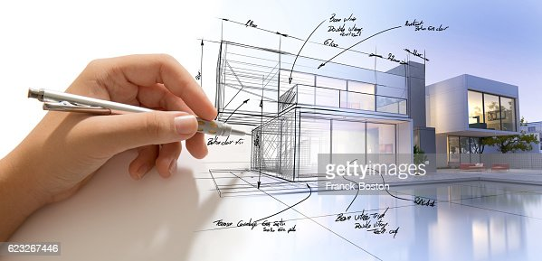 Architecture creative process : Stock-Foto