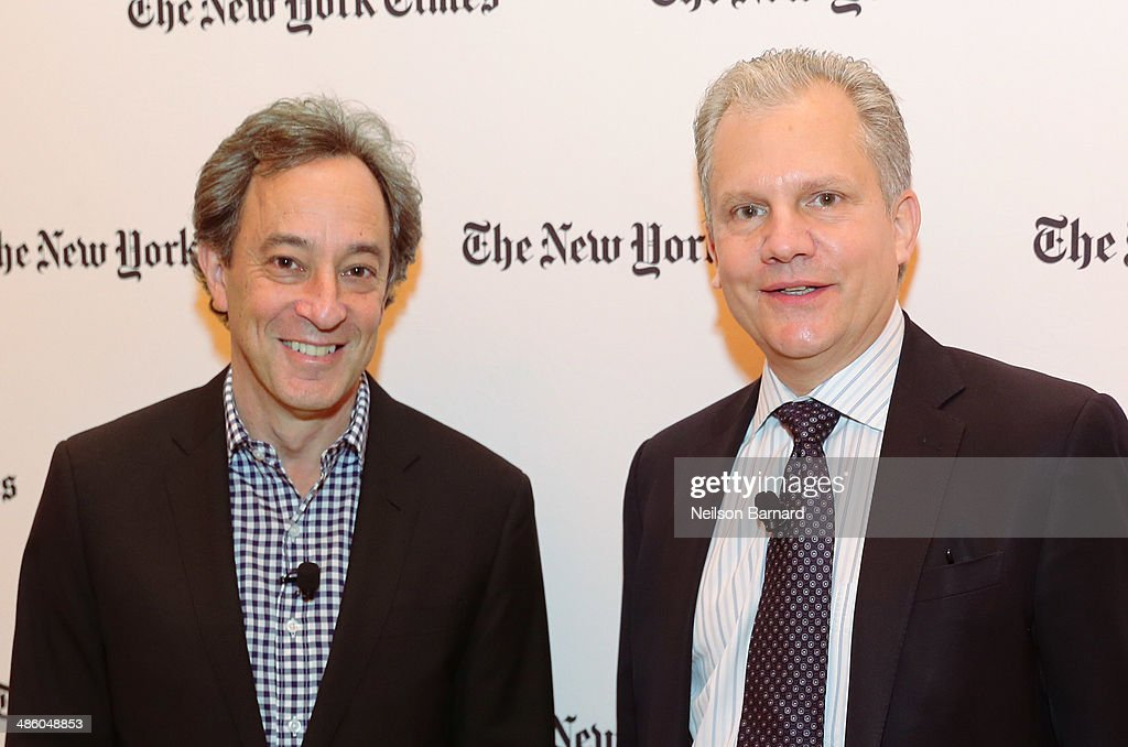 Architecture critic for the New York Times Michael Kimmelman and Publisher of The New York Times Company Arthur Sulzberger Jr attend the New York...