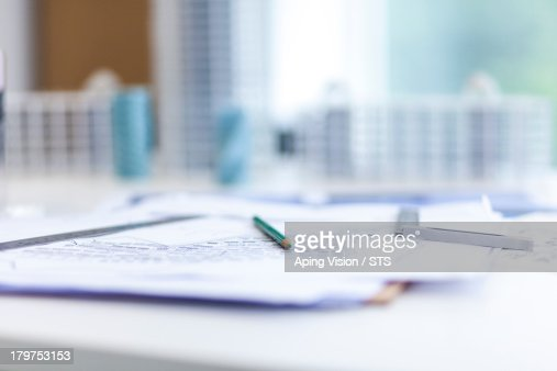 Architecture designer's office : Stock Photo