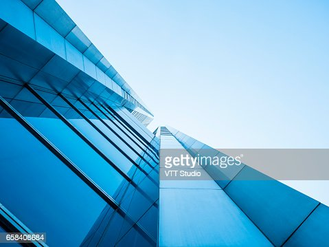 Architecture details Modern Building Glass facade design : Foto de stock