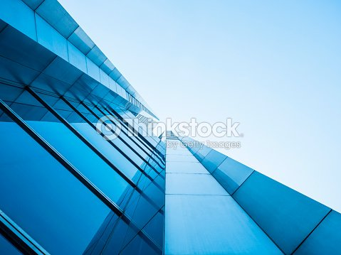Architecture details Modern Building Glass facade design : Stock Photo