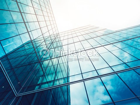 Architecture details Modern Building Glass facade Exterior : Stock Photo
