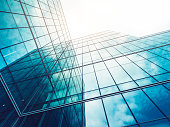 Architecture details Modern Building Glass facade Exterior Business background