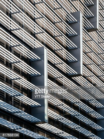 Architecture details modern Facade Design pattern structure : Stock Photo