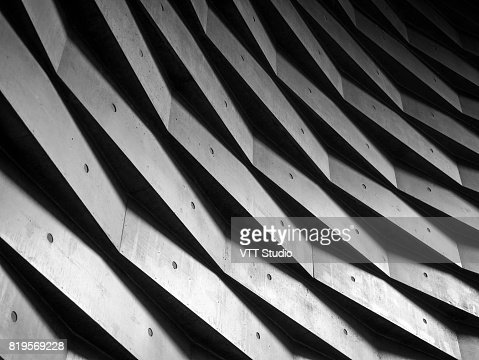 Architecture details wall geometric pattern Background : Stock Photo