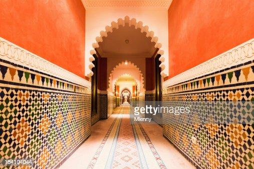 Arche de l'Architecture marocaine avec des carreaux modèle de Design intérieur