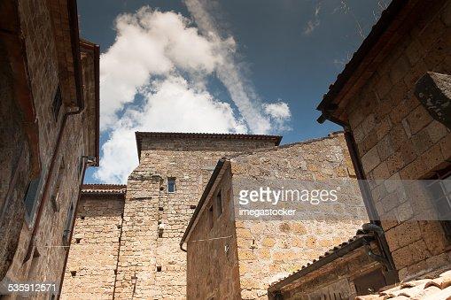 Architecture of Bagnoregio : Stock Photo